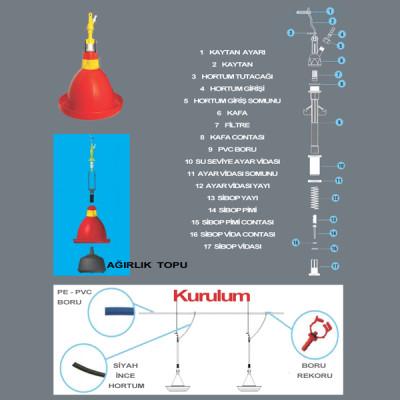 ASKILI OTOMATİK TAVUK SULUK TVK01 - Thumbnail
